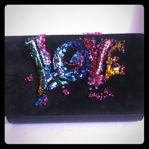 "Christian Louboutin Handbags - Christian Loubutin ""LOVE"" evening clutch"